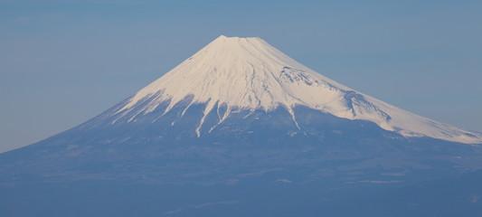 Top of Mountain Fuji with snow in winter season
