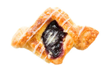 Danish pastry with blueberry