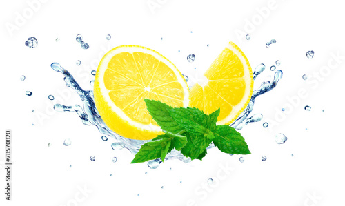 lemon and mint splash - 78570820