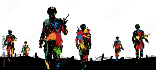 Paintball troops - 78570869