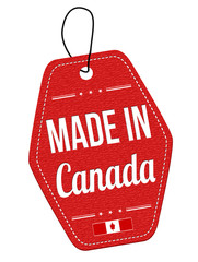 Made in Canada label or price tag