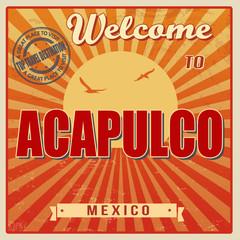 Acapulco, Mexico vintage poster