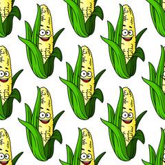 Ripe corn seamless pattern