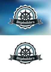 Shipbuilders heraldic banner or emblem