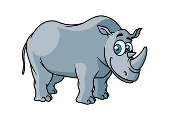 Cartoon grey rhino character