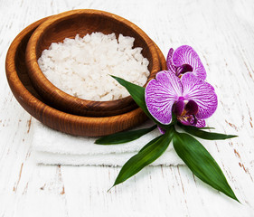 Sea salt and orchids