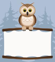 Vector illustration. Owl.