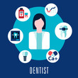 Dentist and dentistry concept