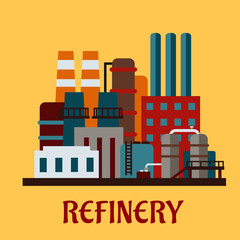 Flat industrial refinery