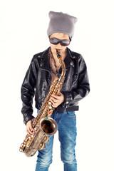 stylischer Saxofonist