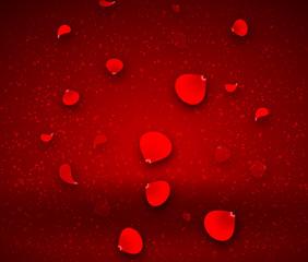 falling red petals