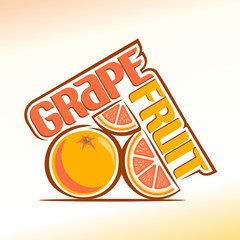 Abstract image of a grapefruit