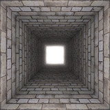 Fototapety brick wall tunnel