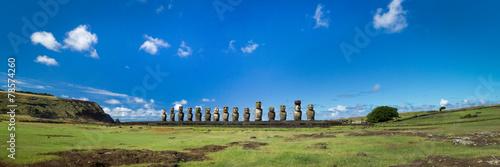 Leinwanddruck Bild Easter Island, Ahu Tongariki