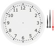 template clock with arrows and numbers isolated on a white - 78575415