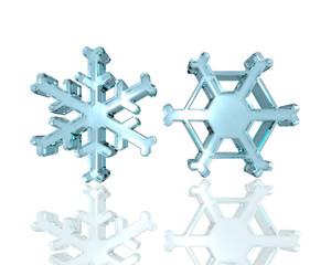Glass snowflakes