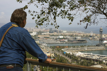 View to the Barcelona.