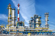canvas print picture - Petrochemical plant, oil refinery factory.