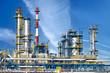 Leinwanddruck Bild - Petrochemical plant, oil refinery factory.