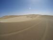 Leinwandbild Motiv Tracks in Namib desert near Swakopmund, Namibia, Africa