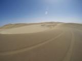 Tracks in Namib desert near Swakopmund, Namibia, Africa