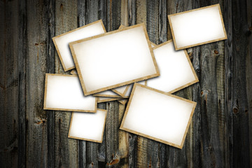 Vintage blank photo frames