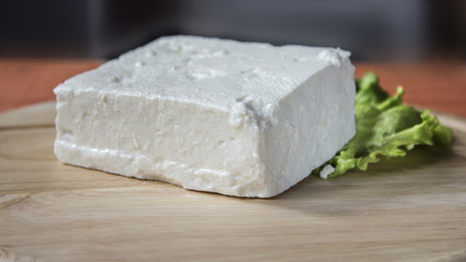 Lump of cow cheese