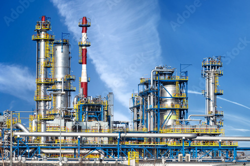 Fotobehang Industrial geb. Petrochemical plant, oil refinery factory.
