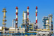 Petrochemical plant over blue sky.