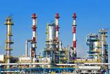 Fototapety Petrochemical plant over blue sky.