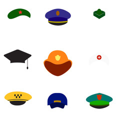 Different hats. Raster