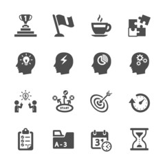 business productivity icon set, vector eps10