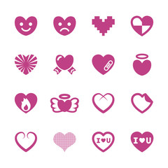 heart and valentine day icon set 3, vector eps10