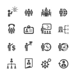 business and human resource management icon set 2, vector eps10