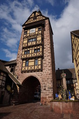 Clock tower in Riquewihr