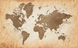 map of the world with a textured background