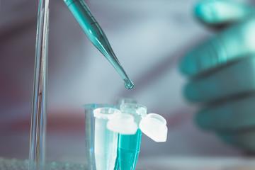 Scientist in chemical lab
