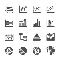 infographic and chart icon set 2, vector eps10
