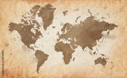 mapa-swiata-z-tekstura-tle