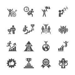 business success icon set, vector eps10