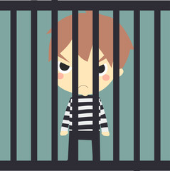 cute prisoner in the jaill.
