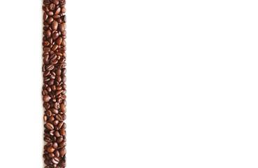 Vorlage: kaffebohnen streifen links, für präsentation und druck