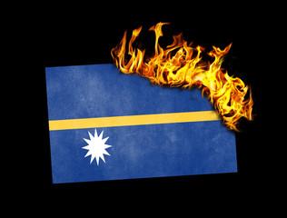 Flag burning - Nauru