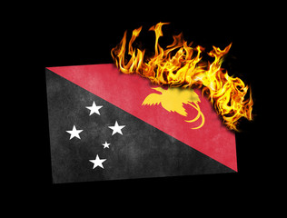 Flag burning - Papua New Guinea
