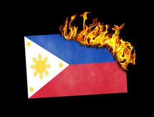 Flag burning - Philippines