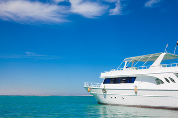 Yatch in beautiful red sea