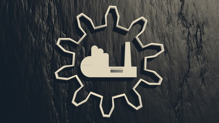 plant icon in rotated gear