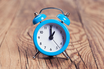 alarm clock on a table