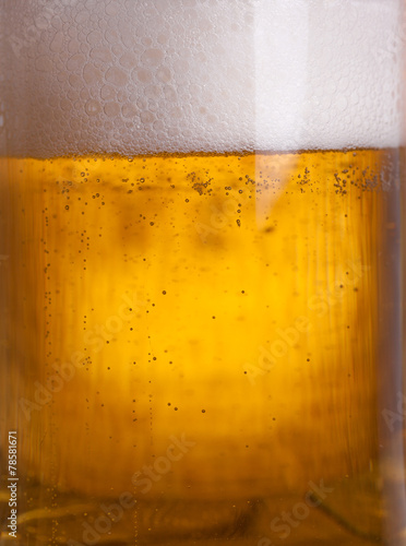 Leinwandbild Motiv Glass beer on wood background