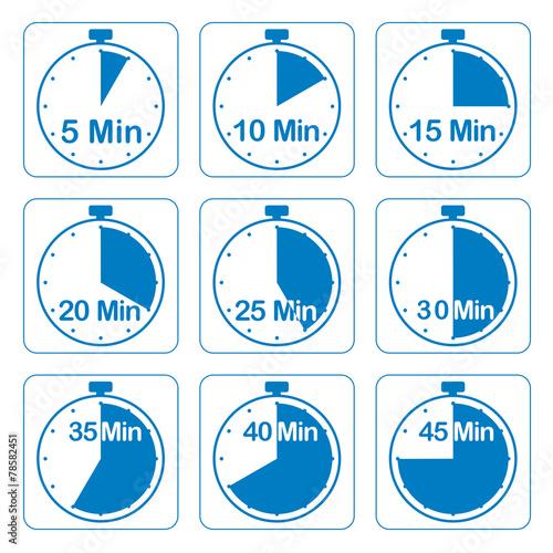 Leinwanddruck Bild Zeituhren, blau